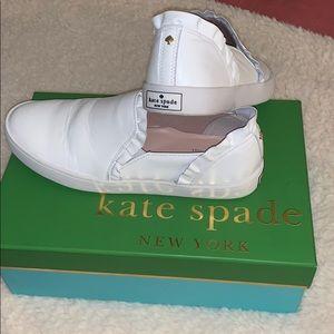 Kate Spade White Slip on Sneakers size 8